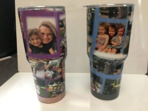 cups with photos